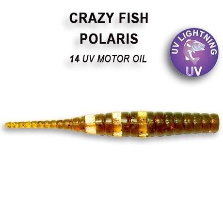 Crazy Fish Polaris 4,5см Силиконова примамка  14 UV Motor Oil