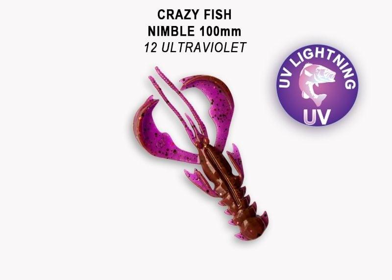 Crazy Fish Nimble 10см Силиконова примамка 12 Ultraviolet