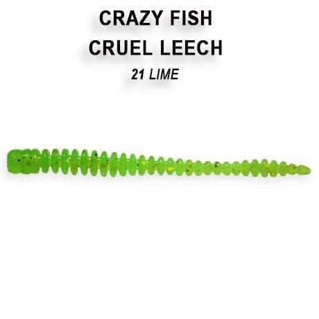 Crazy Fish Cruel Leech 5,5см Силиконова примамка 21 Lime