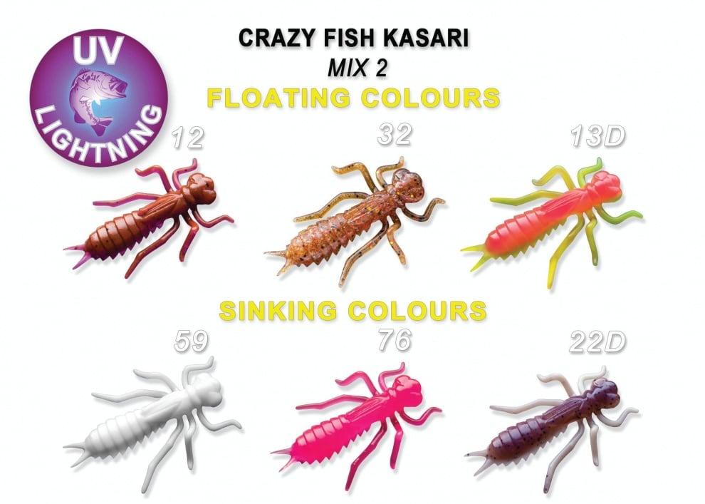 Crazy Fish Kasari 4см Силиконова примамка Mix 2