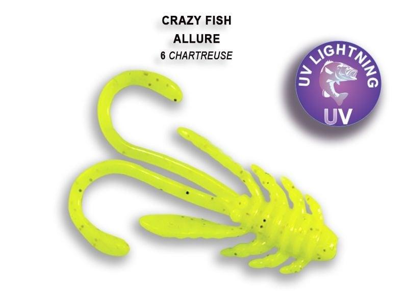 Crazy Fish Allure 4см Силиконова примамка 06 Chartreuse