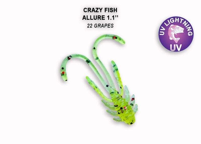 Crazy Fish Allure 2.7см Силиконова примамка 22 Grapes