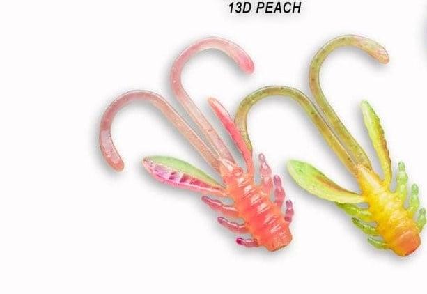 Crazy Fish Allure 5.2см Силиконова примамка 13D Peach