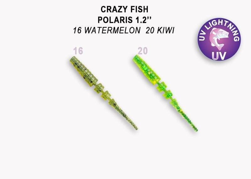 Crazy Fish Polaris 3см Силиконова примамка 16 Watermelon - 20 Kiwi