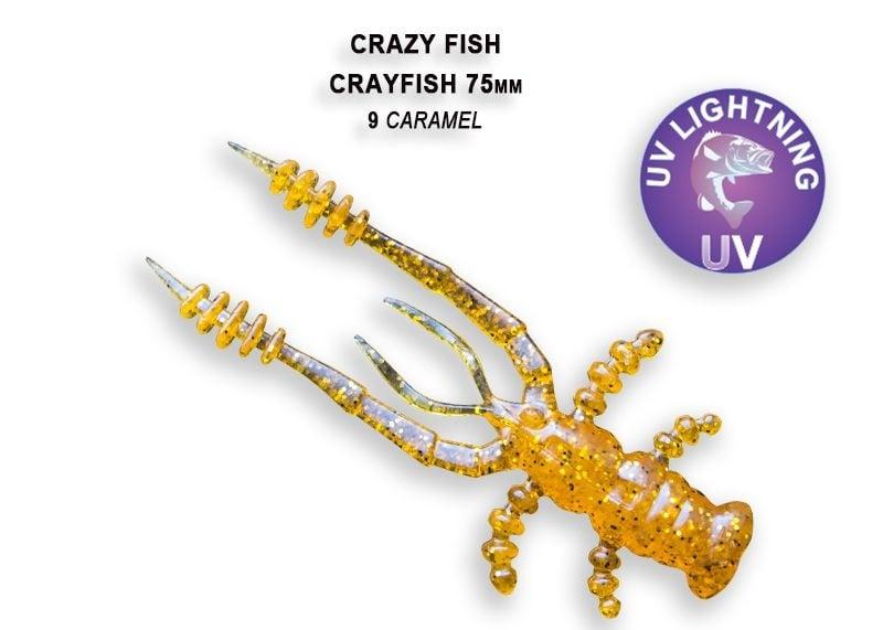Crazy Fish CrayFish 7.5см Силиконова примамка  09 Caramel