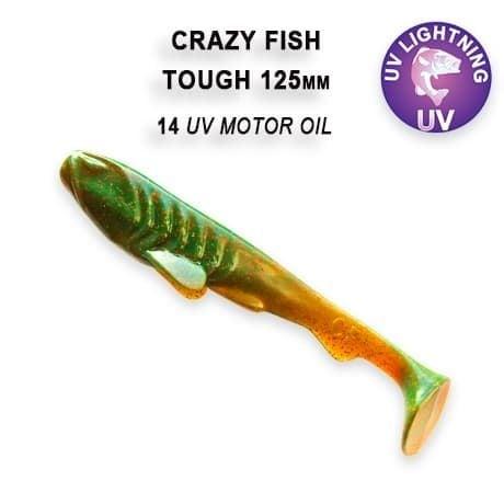 Crazy Fish Tough 12.5 см Силиконова примамка 14 UV Motor Oil