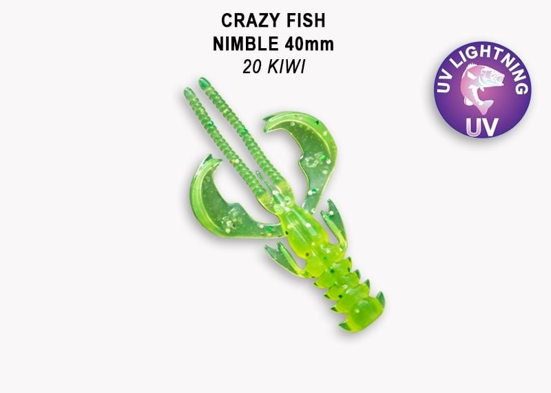Crazy Fish Nimble 4см Силиконова примамка  20 Kiwi