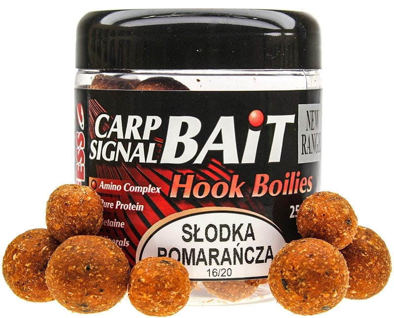 Profess Carp Boilies Signal Bait 16/20мм 250мл. Протеинови топчета Сладък Портокал