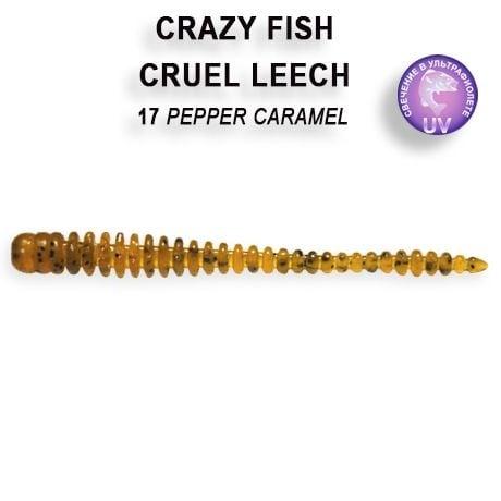 Crazy Fish Cruel Leech 5,5см Силиконова примамка 17 Pepper Caramel