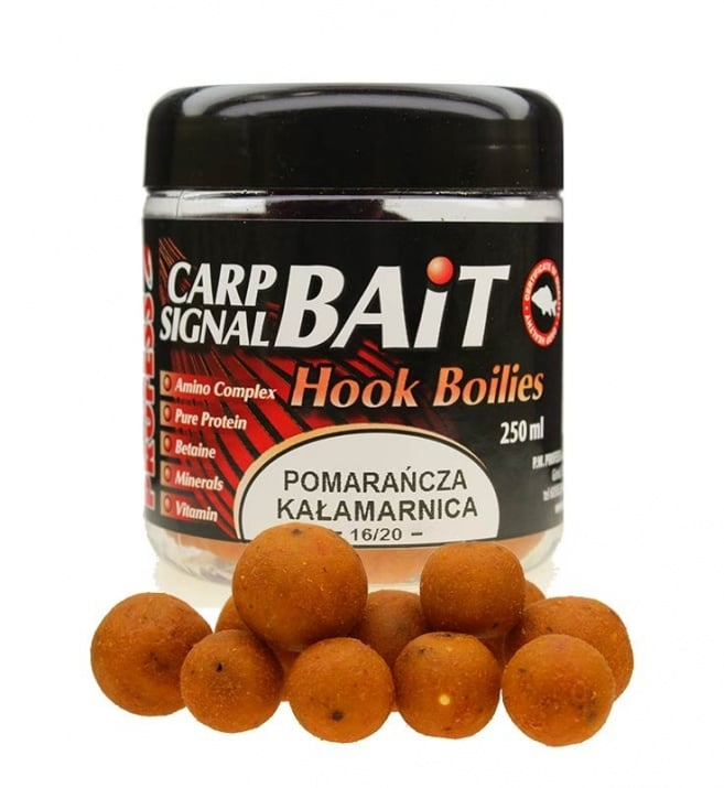 Profess Carp Boilies Signal Bait 16/20мм 250мл. Протеинови топчета Портокал и Калмар