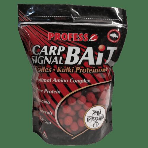 Profess Boilies Carp Signal 20мм Протеинови топчета 750g Ягода и Риба