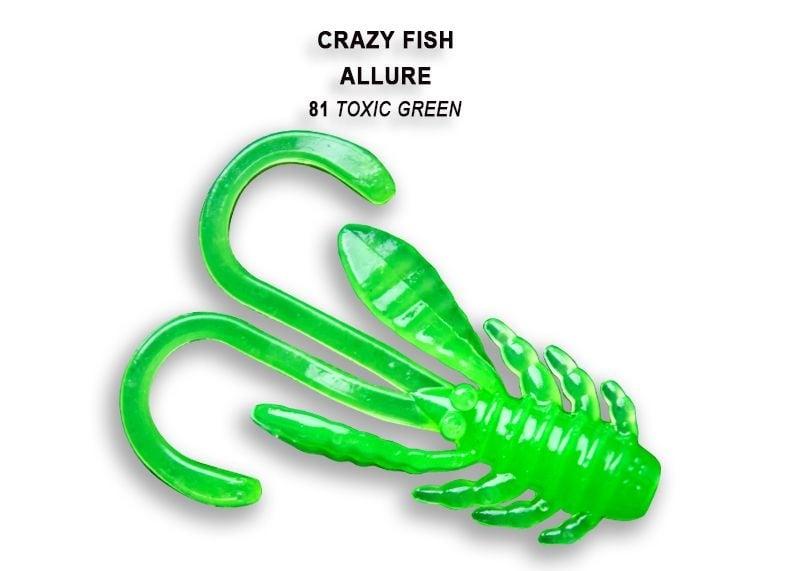 Crazy Fish Allure 4см Силиконова примамка 81 Toxic Green