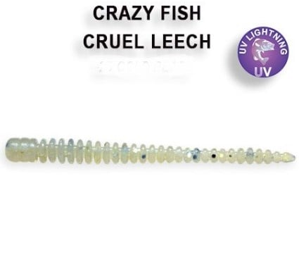 Crazy Fish Cruel Leech 5,5см Силиконова примамка 40 White Tea