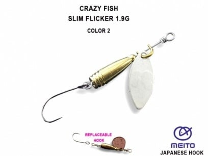 Crazy Fish Slim Flicker 1.9гр. Блесна Цвят 2
