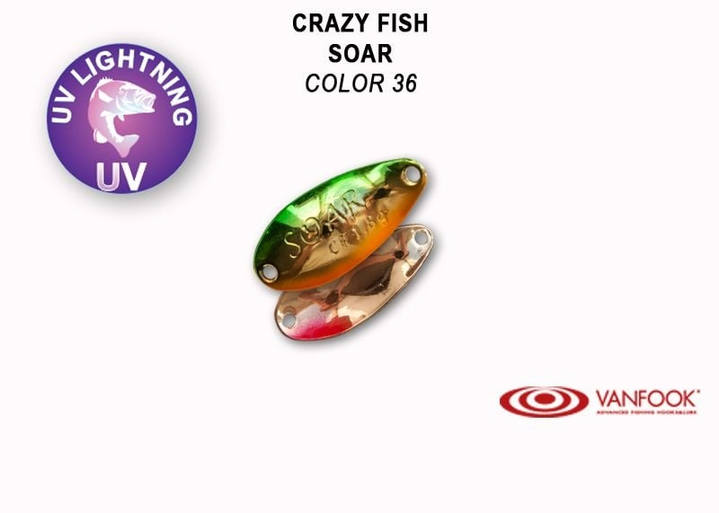 Crazy Fish Soar 1.8гр. Клатушка Цвят 36