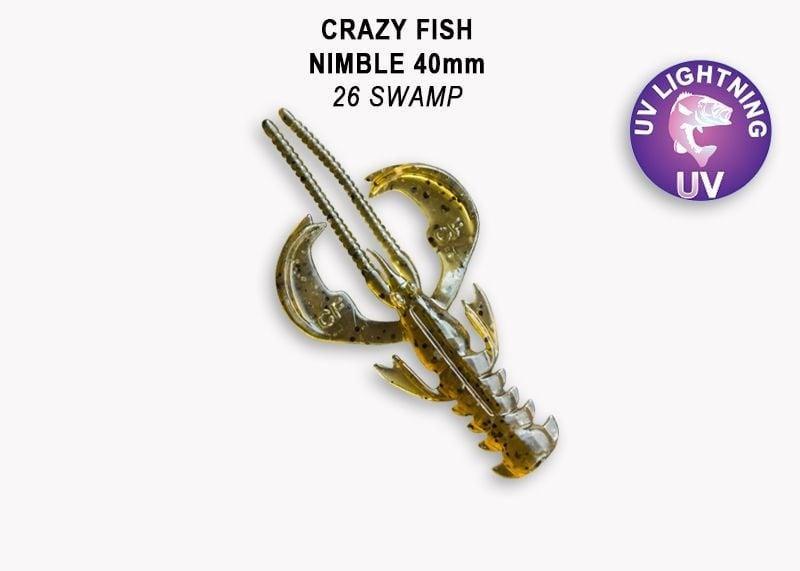 Crazy Fish Nimble 4см Силиконова примамка  26 Swamp