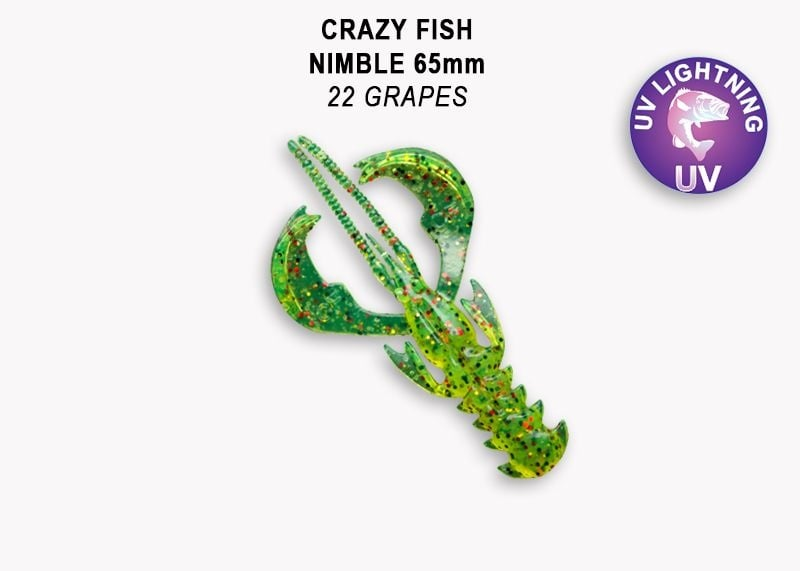 Crazy Fish Nimble 6.5см Силиконова примамка  22 Grapes