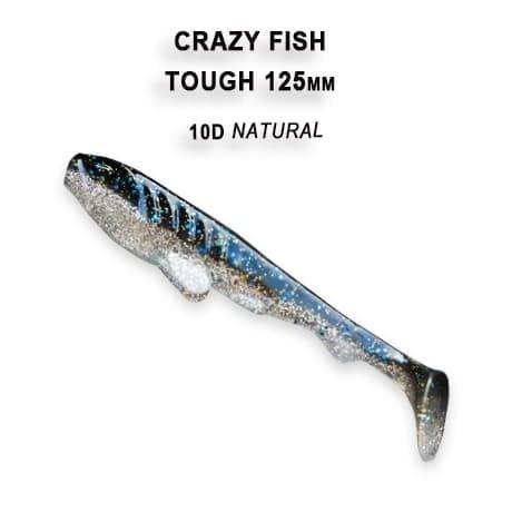 Crazy Fish Tough 12.5 см Силиконова примамка 10D Natural