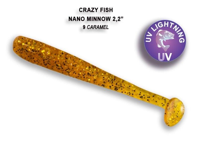Crazy Fish Nano Minnow 5,5см Силиконова примамка  09 Caramel