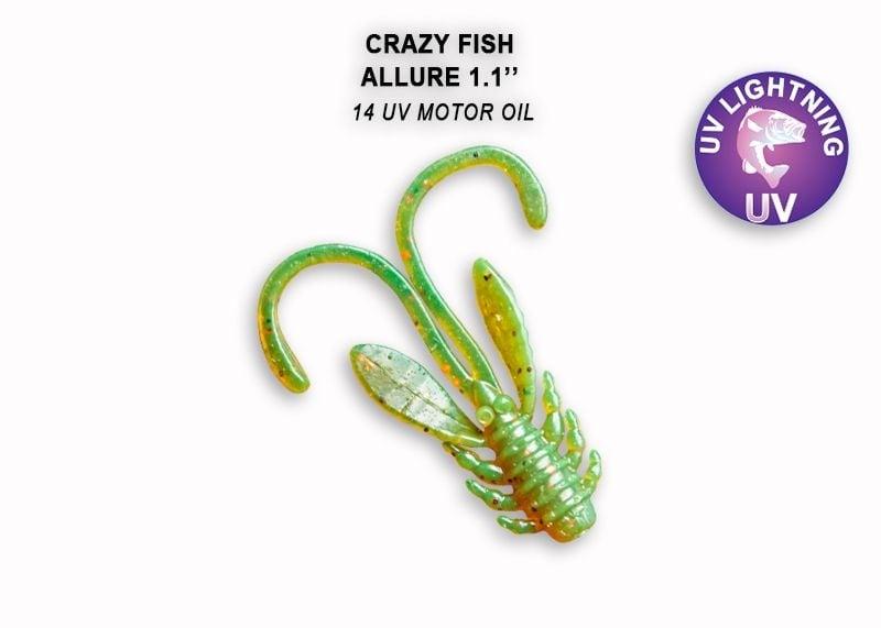 Crazy Fish Allure 2.7см Силиконова примамка 14 UV Motor Oil