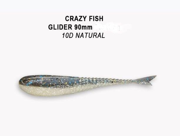 Crazy Fish Glider 9см Силиконова примамка  10D Natural