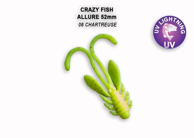 Crazy Fish Allure 5.2см Силиконова примамка 06 Chartreuse