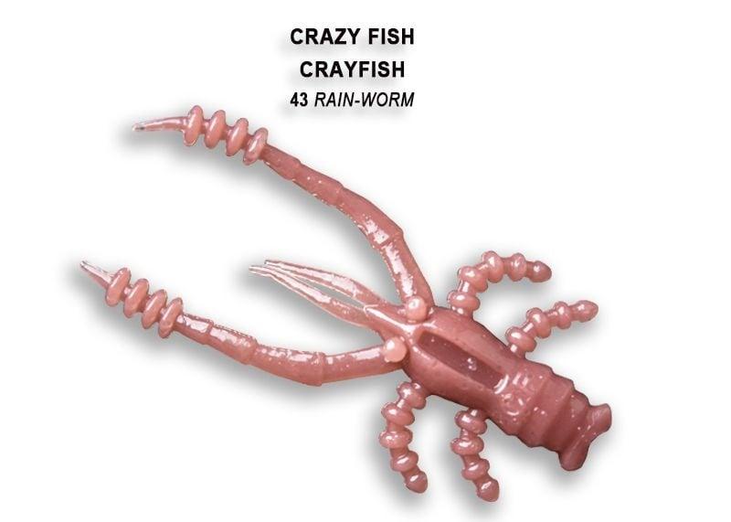 Crazy Fish CrayFish 4.5см Силиконова примамка 43 Rain Worm