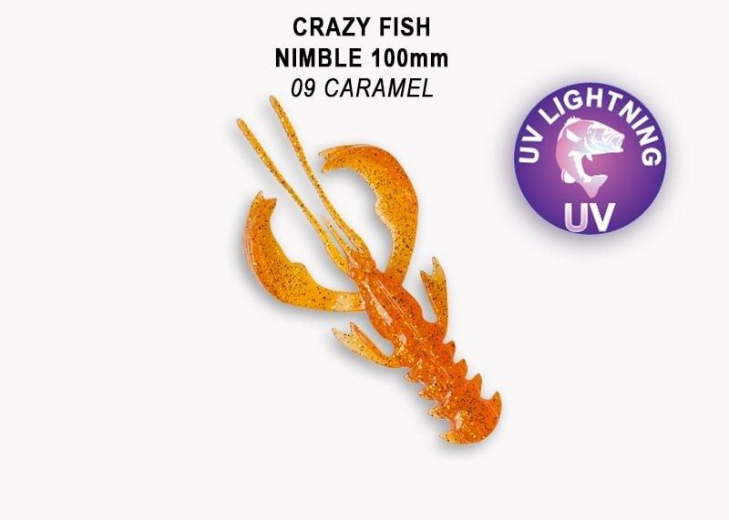 Crazy Fish Nimble 10см Силиконова примамка 09 Caramel