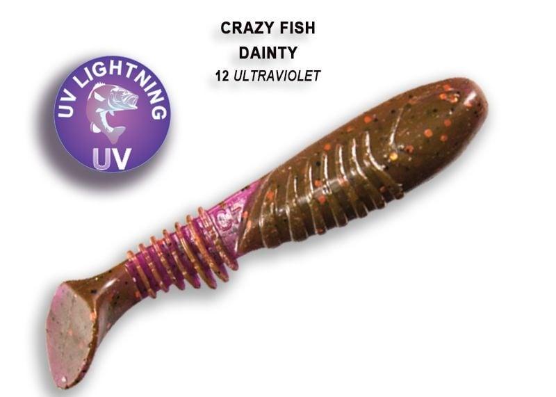 Crazy Fish Dainty 8.5см Силиконова примамка  12 Ultraviolet