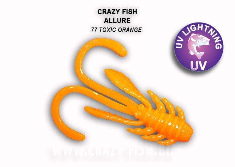 Crazy Fish Allure 4см Силиконова примамка 77 Toxic Orange