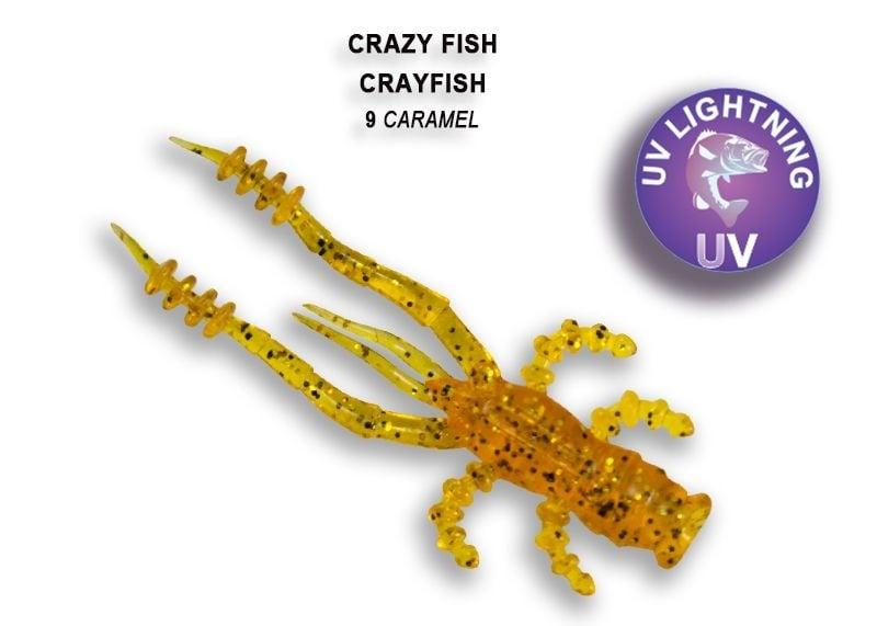 Crazy Fish CrayFish 4.5см Силиконова примамка 09 Caramel