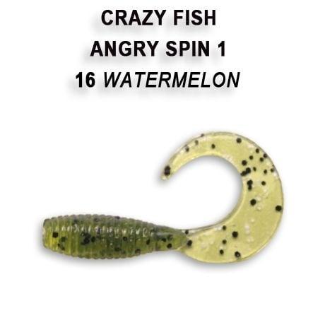 Crazy Fish Angry Spin 2,5см Силиконова примамка  16 Watermelon