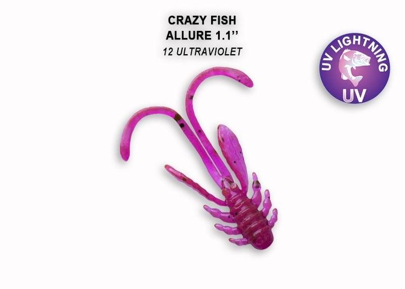 Crazy Fish Allure 2.7см Силиконова примамка 12 Ultraviolet