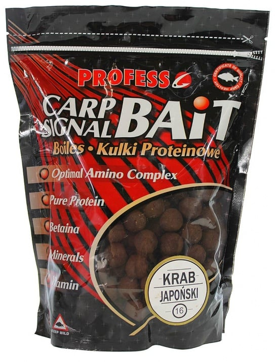 Profess Boilies Carp Signal 20мм Протеинови топчета 750g Krab Japonski