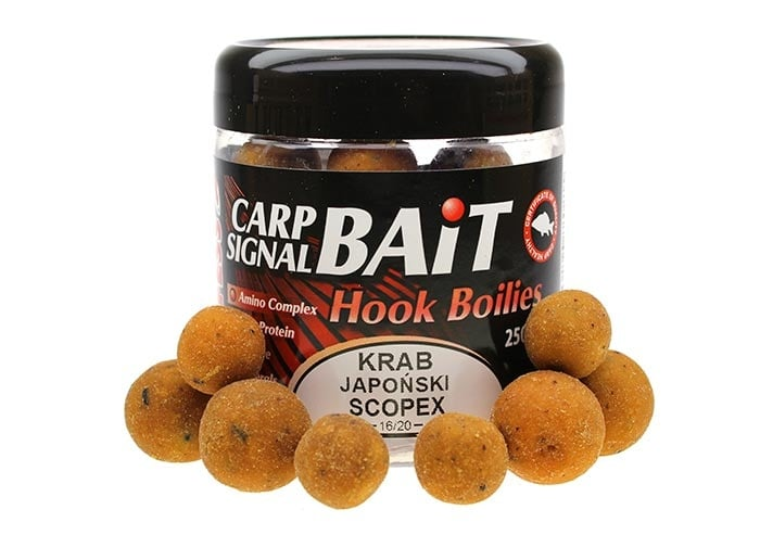 Profess Carp Boilies Signal Bait 16/20мм 250мл. Протеинови топчета Скопекс и Японски Краб