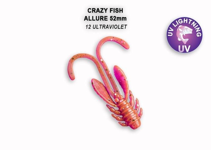 Crazy Fish Allure 5.2см Силиконова примамка 12 Ultraviolet