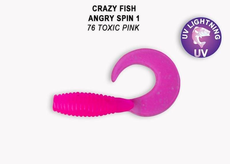 Crazy Fish Angry Spin 2,5см Силиконова примамка  76 Toxic Pink