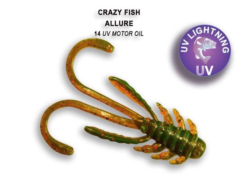 Crazy Fish Allure 4см Силиконова примамка 14 UV Motor Oil