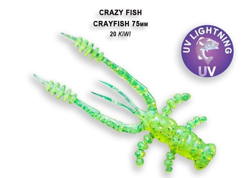 Crazy Fish CrayFish 7.5см Силиконова примамка  20 Kiwi
