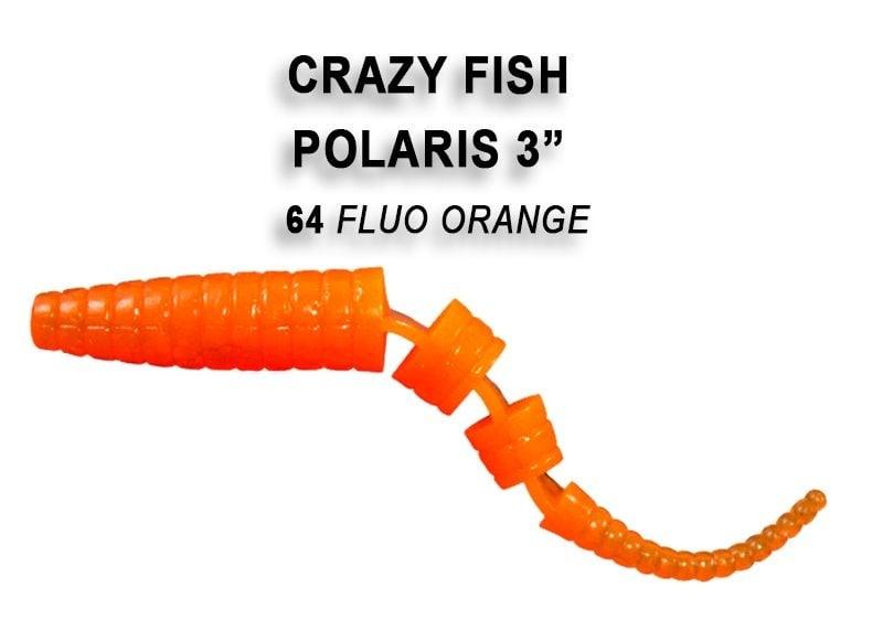 Crazy Fish Polaris 6.8см Силиконова примамка  64 Fluo Orange