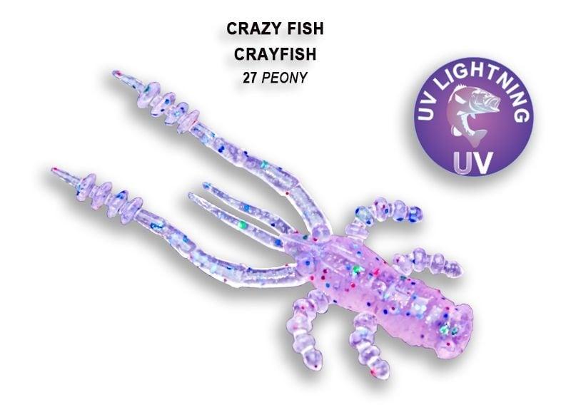 Crazy Fish CrayFish 4.5см Силиконова примамка 27 Peony