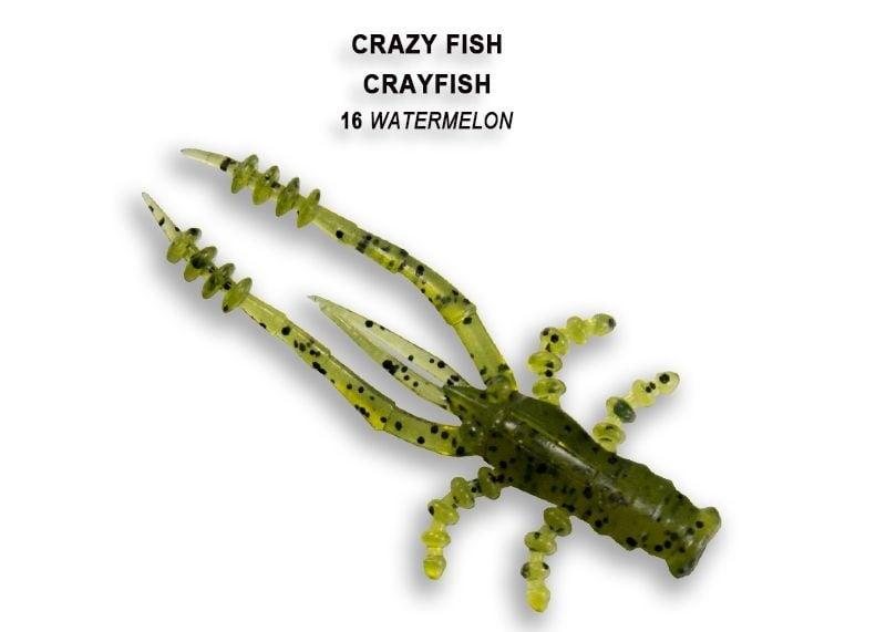 Crazy Fish CrayFish 4.5см Силиконова примамка 16 Watermelon