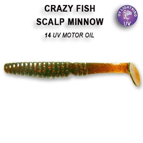 Crazy Fish Scalp Minnow 8см Силиконова примамка  14 UV Motor Oil