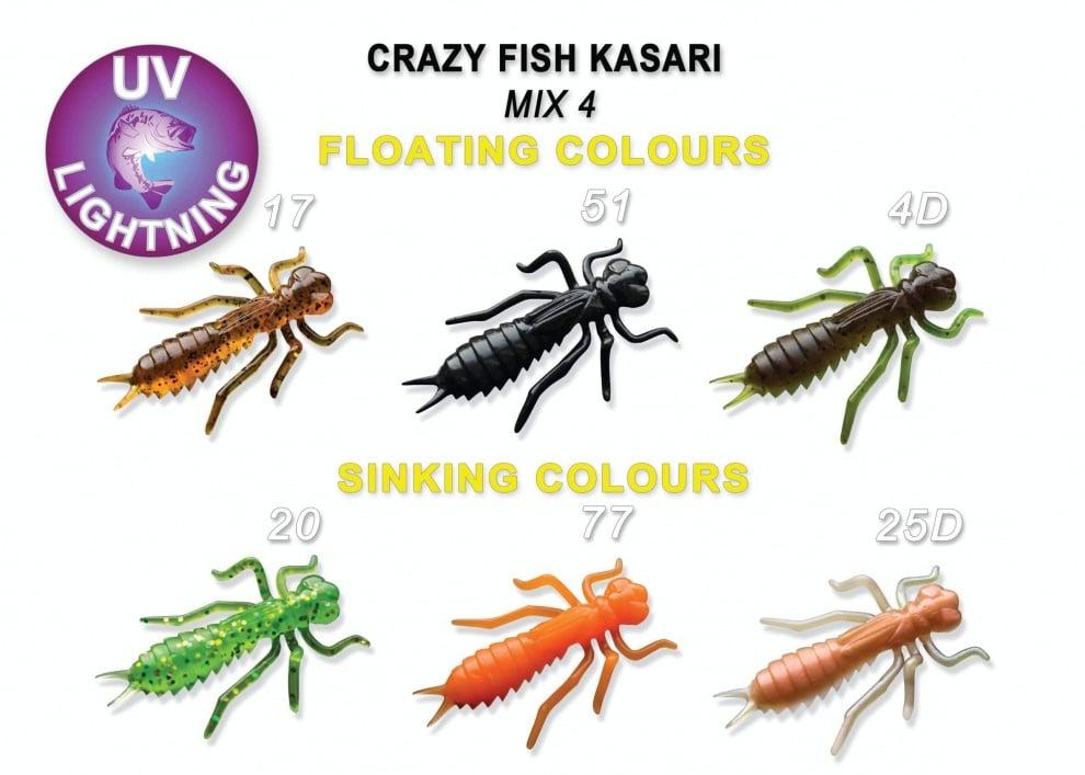 Crazy Fish Kasari 4см Силиконова примамка Mix 4