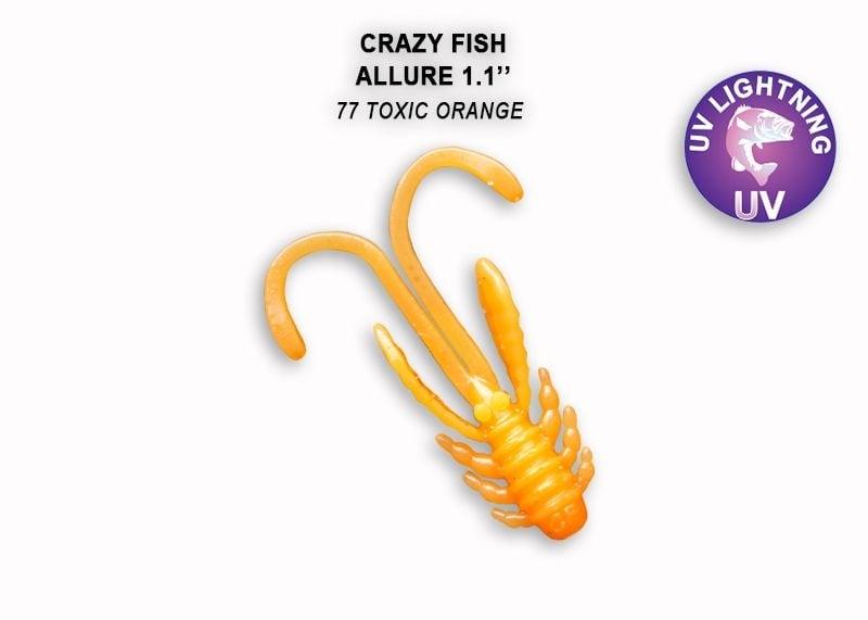 Crazy Fish Allure 2.7см Силиконова примамка 77 Toxic Orange