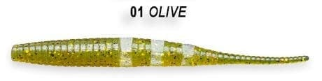 Crazy Fish Polaris 10см Силиконова примамка  01 Olive