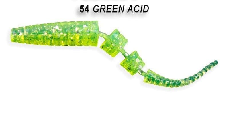 Crazy Fish Polaris 10см Силиконова примамка  54 Green Acid