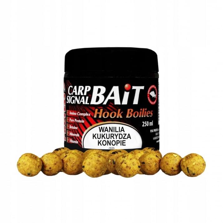 Profess Carp Boilies Signal Bait 16/20мм 250мл. Протеинови топчета Ванилия, Царевица и Коноп