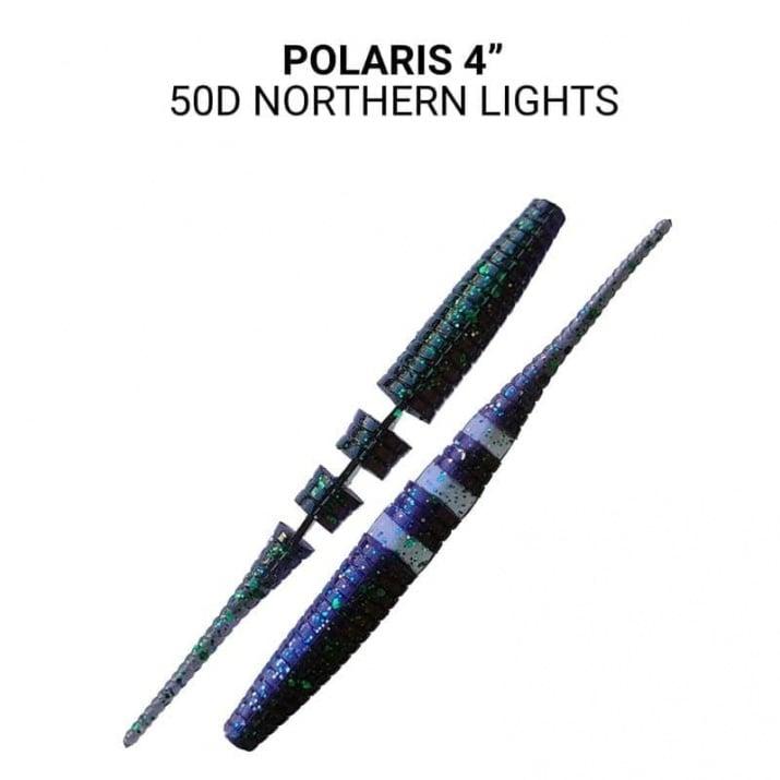 Crazy Fish Polaris 10см Силиконова примамка  50D Northern Lights