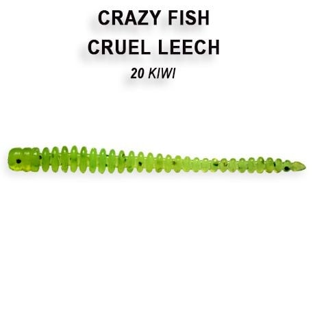 Crazy Fish Cruel Leech 5,5см Силиконова примамка 20 Kiwi